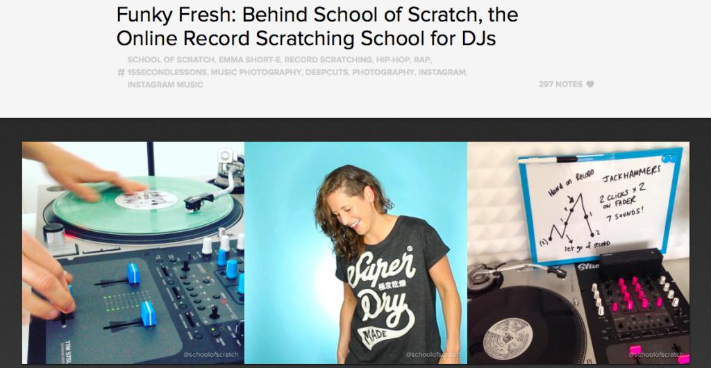 School of Scratch Featured on Instagram @Music